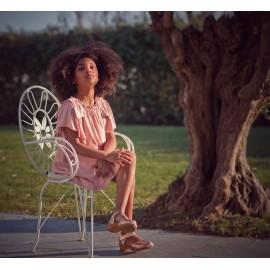 Mia y lia vestido rosa empolvado