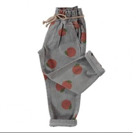 piupiuchick trousers belt grey peaches