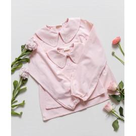 bluson bordado chambray rosa